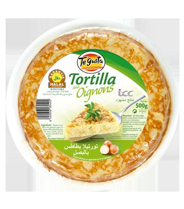 Tortilla aux onions halal