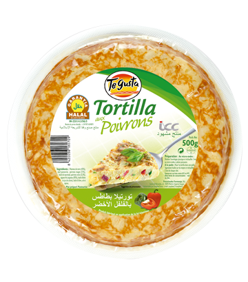Tortilla aux poivrons halal